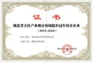 "Kinghonor won the ""Invisible Champion Enterprise in the Pillar Industry Segmentation of Hubei Province"""